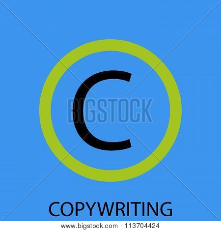 Copywriting icon flat design