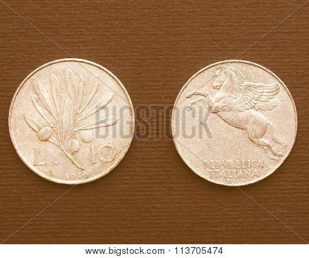 Italian Coin Vintage