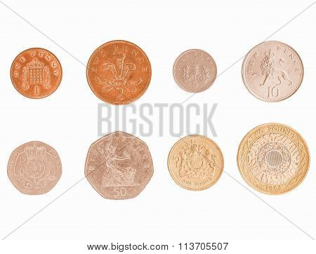 Pound Coin Series Vintage
