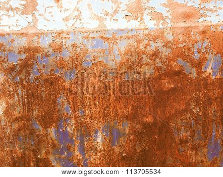 Retro Looking Rusted Steel