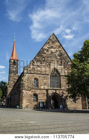 St. Jakobskirche (st. James' Church) In Nuremberg, Germany, 2015