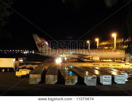 Air Canada And Hawaiian Airlines Planes Sit At Honolulu International Airport