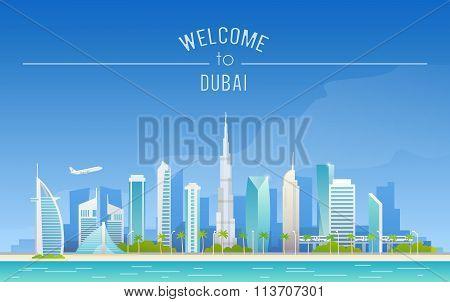 The urban landscape of Dubai