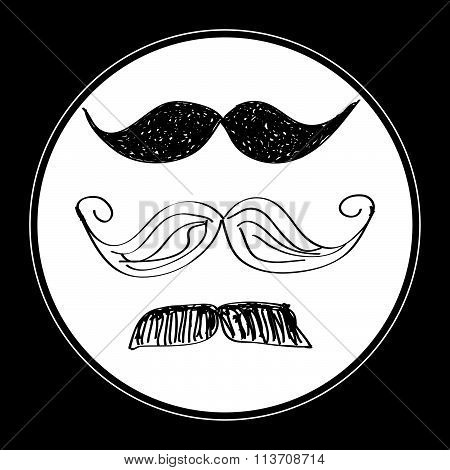 Simple Doodle Of A Moustache