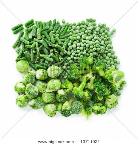 Frozen Vegetables Mix Isolated