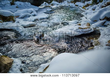 Frozen River On Mountains