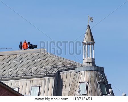 Videographers On The Roof