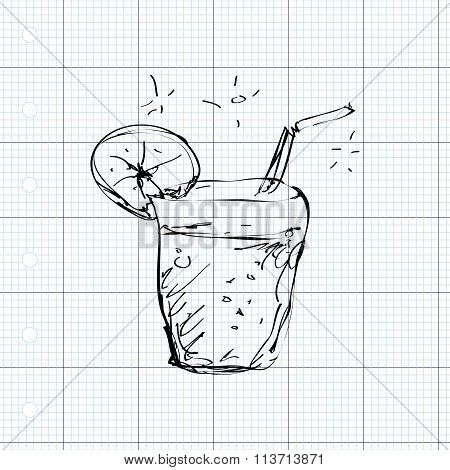 Simple Doodle Of A Cool Drink