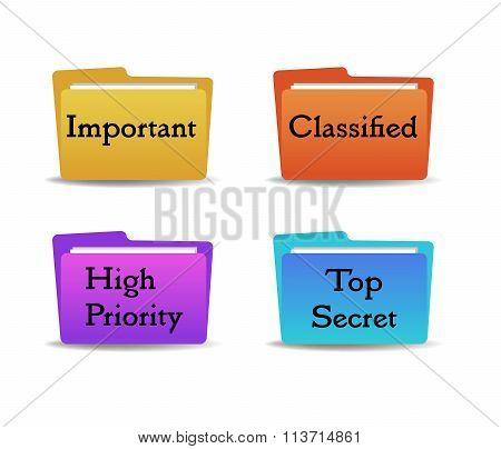 Four folders