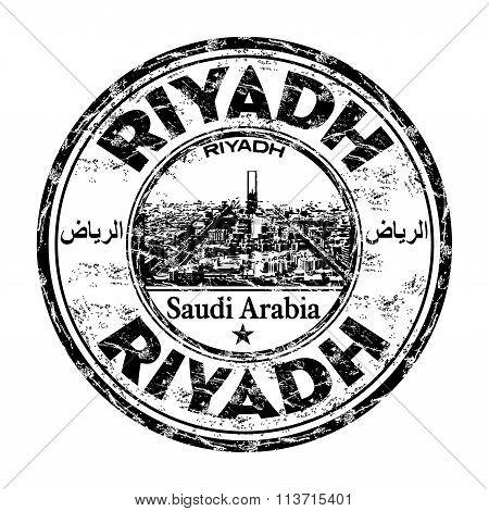 Riyadh grunge rubber stamp