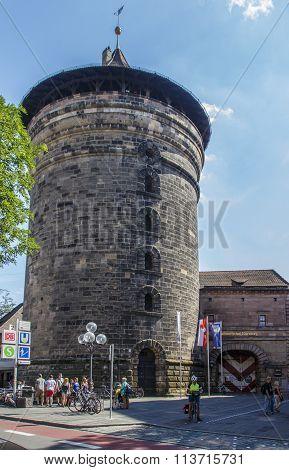 Women's Tower (frauentorturm) In Nuremberg, Germany, 2015