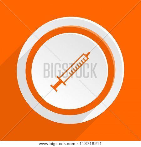 medicine orange flat design modern icon for web and mobile app