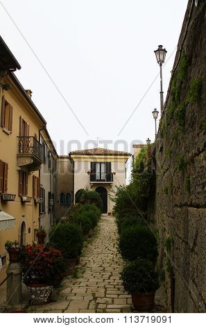 Old streets of San Marino