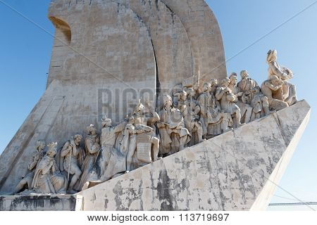 Statues of The Early Navigators on the Monument to the Discoveries in Lisbon