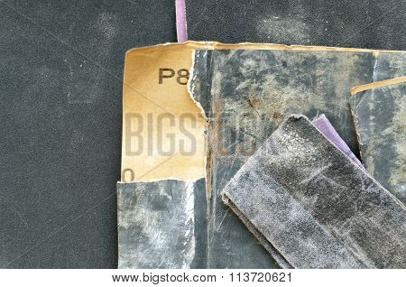 A Set Of Sandpaper For Wood And Metal
