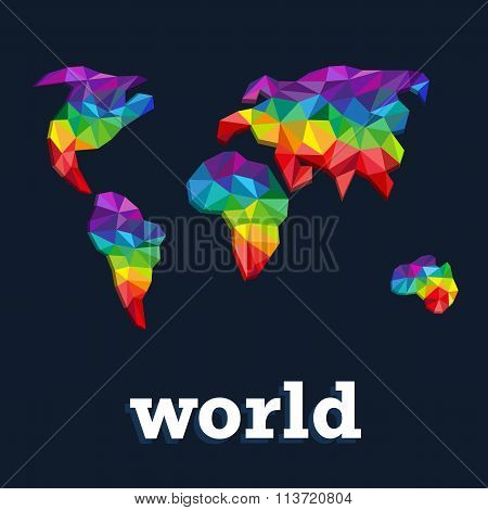 Triangle Pattern Continents