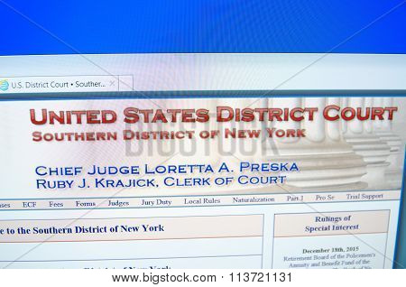 U.S. District Court Southern District of NY
