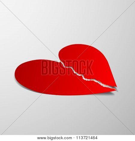 Red Heart. Stock Illustration.