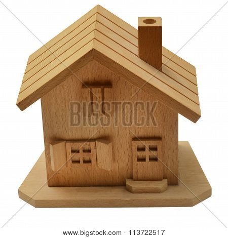 Close Up Of Wooden House