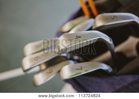 Dirty golf clubs