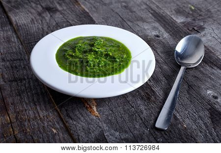 Green and hot herb sauce chimichuri