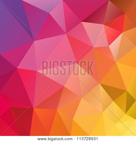 Vector Polygon Background Triangular Geometric Design In Full