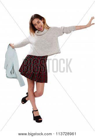 Fun Vivacious Young Woman