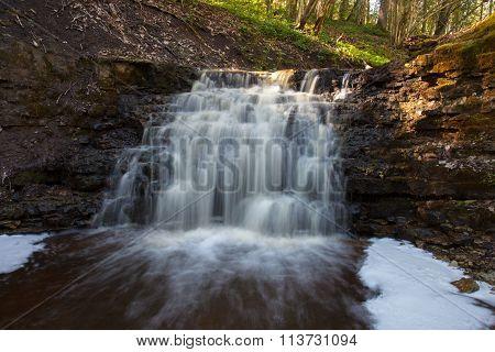 Waterfall Virsaishi, Latvia
