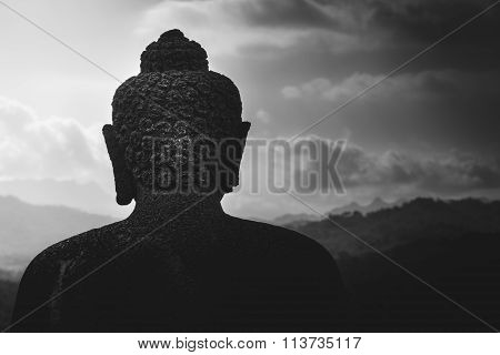 Borobudur Statue Looking Out