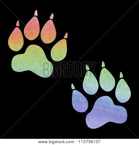 Animal Tracks. Vector illustration.