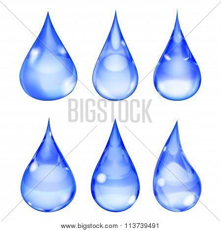 Opaque Blue Drops
