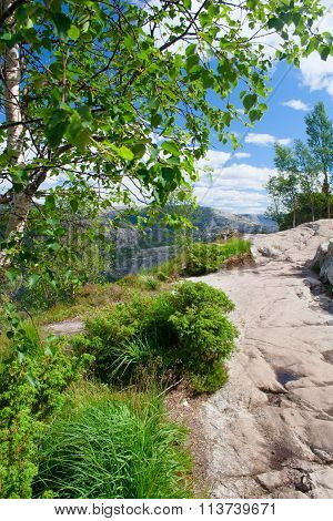 Norway, Picturesque Stony Track In Mountains