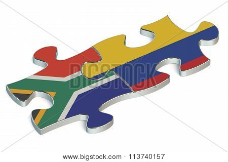 Colombia And South Africa Puzzles From Flags
