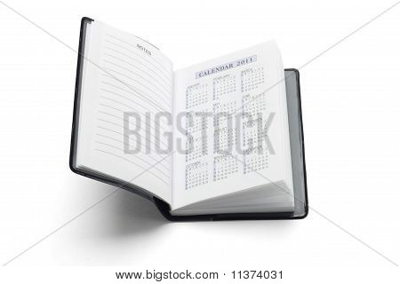 Pocket Diary Showing 2011 Calendar