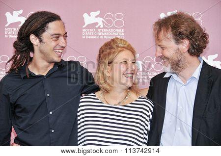 Actors Jonas Carpignano, Fiorella Infascelli and Francesco Bruni