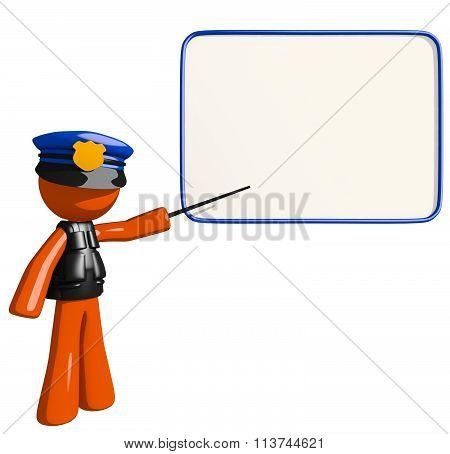 Orange Man Police Officer Seminar