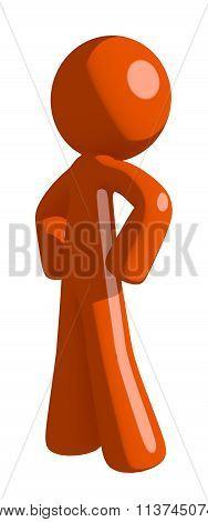 Orange Man Hero Stance
