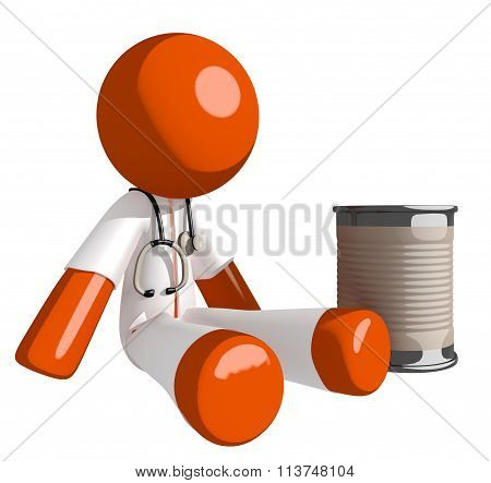 Orange Man Doctor Beggar