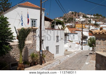 Island Hydra, Greece. Tradition Street