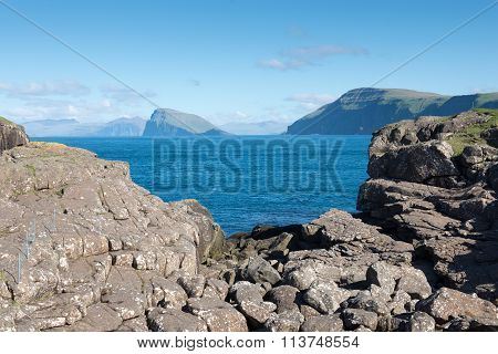 Landscape On The Faroe Islands With View On Hestur
