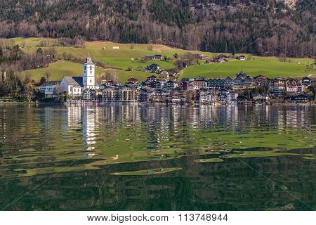 Wolfgang Lake And St.wolfgang Village-austria