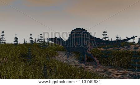 spinosaurus in swamp waters