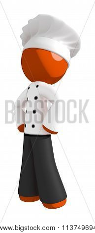 Orange Man Chef Hero