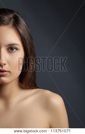 Attractive brunette girl is expressing her sexuality
