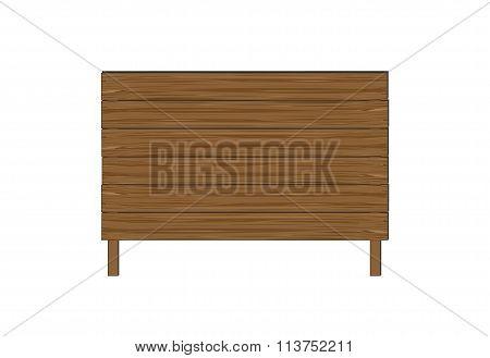 Empty wooden boards