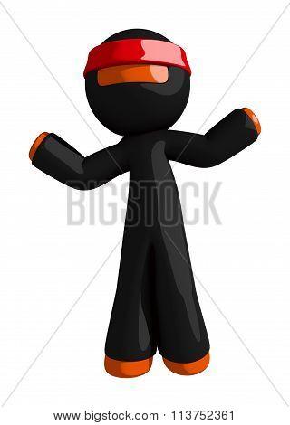 Orange Man Ninja Warrior Confused