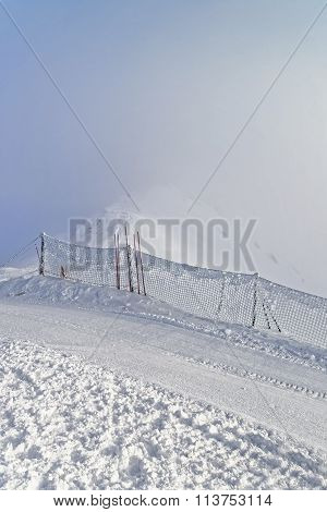 Snow Storm In Kasprowy Wierch Of Zakopane In Tatra Mounts In Winter