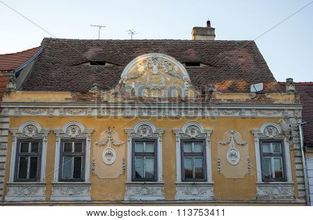 Old building in decay from a romanian german city