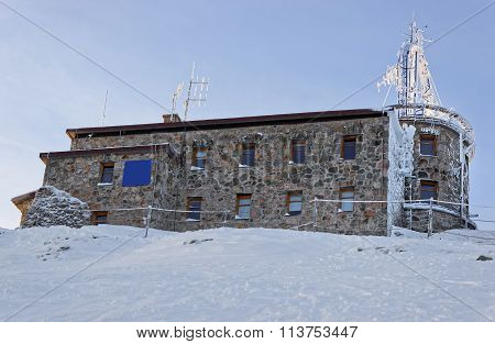 Weather Observatory In Kasprowy Wierch In Zakopane  In Winter