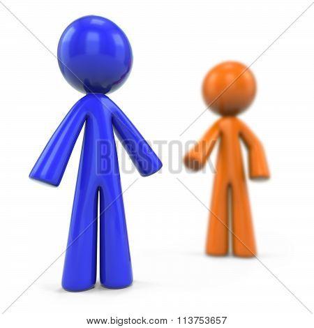 Orange And Blue Man Dof